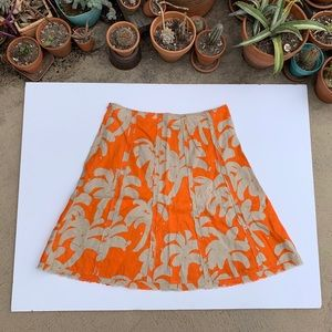 Tropical print 100% Linen Tommy Bahama skirt
